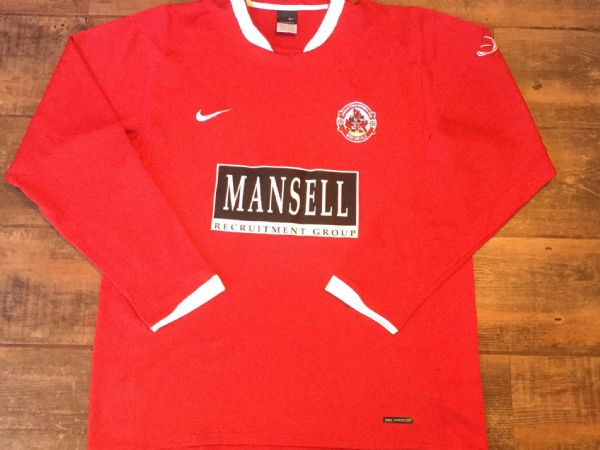 2006 2007 Crawley Town L/s Football Shirt Adults Large